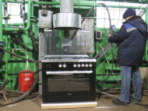Испытания газовых плит